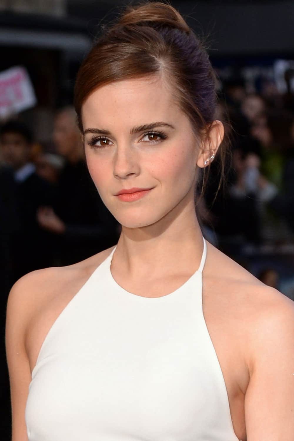 Emma Watson With A Chic Updo - The Hair 100: Top Celebrity ...